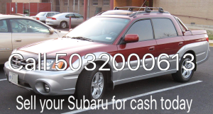 Sell Subaru for cash